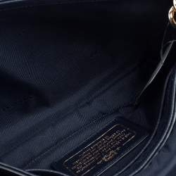 Coach Blue Leather Crosstown Shoulder Bag