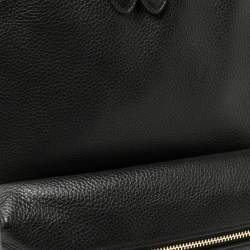 Coach Black Pebbled Leather Charlie Backpack