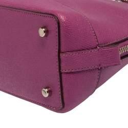 Coach Purple Leather Dome Satchel