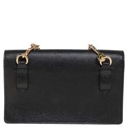 Coach Black Leather Boxed Flap Belt Bag