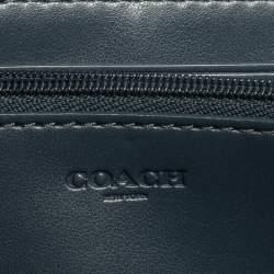 Coach Beige Signature Coated Canvas Radial Rainbow Accordion Zip Around Wallet