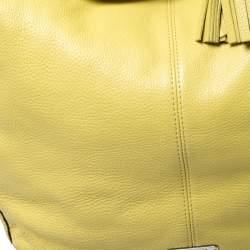 Coach Neon Yellow Leather Hobo