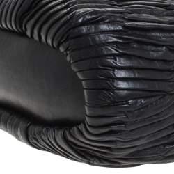 Coach Black Pleated Leather Sophia Madison Satchel