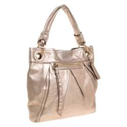 Coach Metallic Rose Gold Leather Parker Hobo