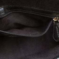 Coach Black Leather Turnlock Crossbody Bag
