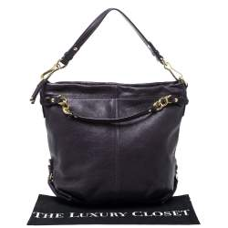 Coach Purple Leather Large Brooke Hobo