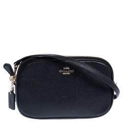 Coach Black Leather Sadie Crossbody Bag