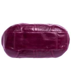Coach Purple Leather Ergo Lace Frame Shoulder Bag