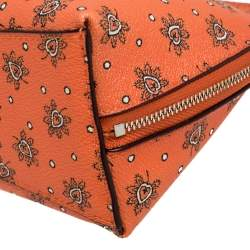 Coach Orange Bloom Print Coated Canvas Cosmetic Pouch
