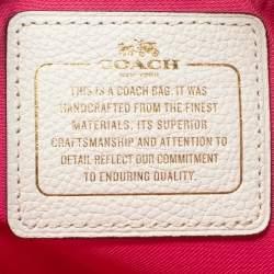 Coach White/Pink Floral Print Leather Chelsea Shoulder Bag