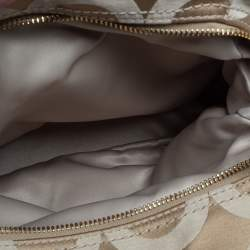 Coach Beige/Orange Op Art Canvas and Leather Madison Maggie Shoulder Bag
