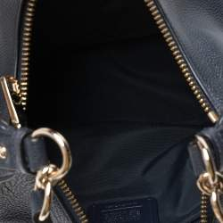 Coach Navy Blue Grained Leather Harley Hobo