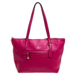 Coach Magenta Soft Leather Taylor Tote