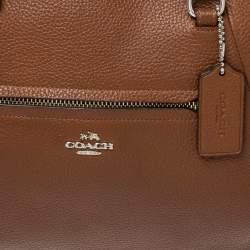 Coach Brown Pebbled Leather Prairie Satchel