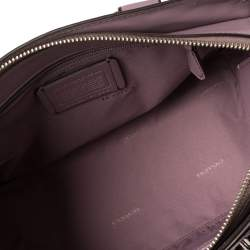 Coach Lilac Grained Leather Swagger 27 Carryall Satchel
