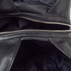 Coach Grey/Black Signature Coated Canvas and Leather Shoulder Bag