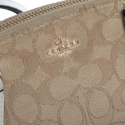 Coach Beige Signature Canvas Mini Kelsey Satchel