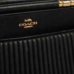 Coach Black Quilted Leather Grace Satchel