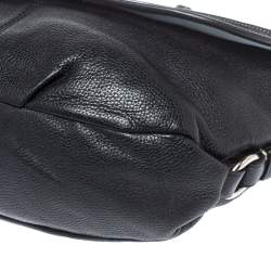 Coach Black Leather Duffel Flap Hobo