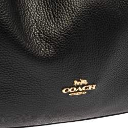 Coach Black Leather Edie 31 Shoulder Bag