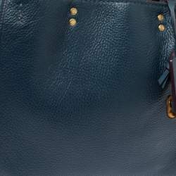 Coach Blue Leather Rogue Tote
