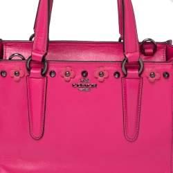 Coach Dahlia Leather Floral Rivets Detail Mini Crossbody Bag