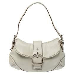 Coach White Leather Soho Shoulder Bag