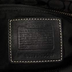 Coach Black Signature Canvas and Leather Hampton Tote
