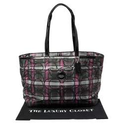 Coach Multicolor Canvas and Patent Leather Diaper Bag