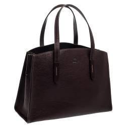 Coach Maroon Leather Charlie Carryall Bag