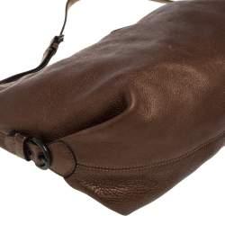 حقيبة كوتش هالي جلد بني ميتاليك