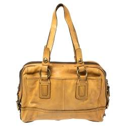 Coach Mustard Leather Legacy Lily Satchel