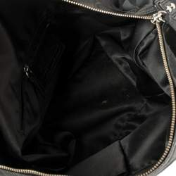 Coach Black Signature Canvas and Glazed Leather Ashley Satchel