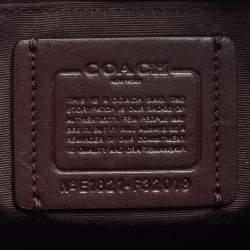 Coach Plum Patent and Leather Mini Sierra Satchel