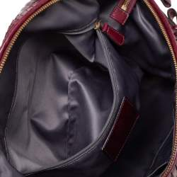 Coach Burgundy Pleated Leather Sophia Madison Satchel