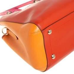Coach Tri Color Grained Leather Sage Carryall Satchel