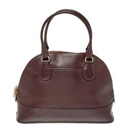 Coach Burgundy Leather Cora Dome Satchel