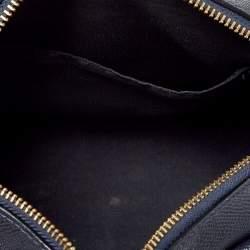 Coach Navy Blue Leather Mini Bennett Satchel
