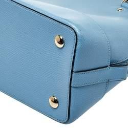 Coach Blue Leather Sierra Satchel