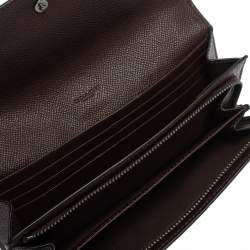 Coach Burgundy Leather Flap Continental Wallet