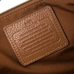 Coach Brown Grained Leather Kelsey Satchel