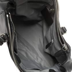 Coach Black Leather Peyton Double Zipper Tote