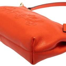 Coach Orange Leather Charley Shoulder Bag