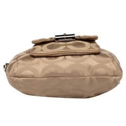 حقيبة هوبو كوتش جلد وكانفاس بيج بالشعار