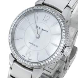 Concord Mother Of Pearl Stainless Steel Diamond Impresario CC.06.3.14.1120S Women's Wristwatch 32 mm