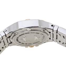 Concord Silver White 18K Rose Gold Stainless Steel Diamond Saratoga 24.E1.1855 Women's Wristwatch 28 mm