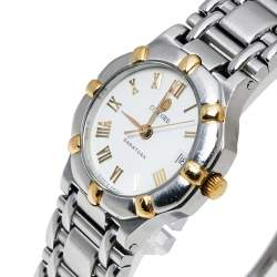 Concord White Two-Tone Stainless Steel Saratoga 115.73.287.G Women's Wristwatch 23 mm