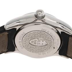 Corum Blue Mother Of Pearl Stainless Steel Leather Bubble Mid-Size 39.151.47 Women's Wristwatch 35 mm