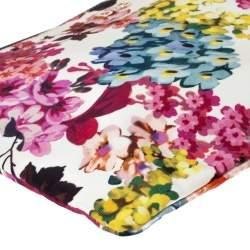D&G Multicolor Floral Print Canvas Zip Clutch