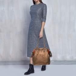 D&G Multicolor Leather Lily Bowler Bag